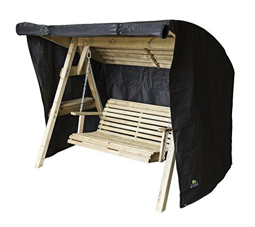 Zest 4 Leisure Miami 2 Seater Swing Cover, Black, 189 x 162 x 180 cm