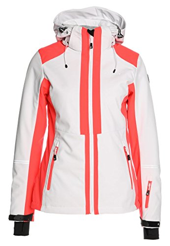 Icepeak Nelly dames ski- softshelljas winterjas wit maat 46