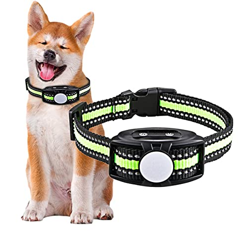 Dog Bark Collar Anti-Bark Device Barking Stopper No Shock No Pain with Smart Chip Highly Effective Stop Barking Vibration and Sound Stops Barks Fast for Small to Large Dogs