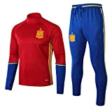 CLL-mls Europa de fútbol Club de fútbol de los Hombres de la Camiseta de Manga Larga Primavera y el otoño Uniforme Transpirable formación de Red Ropa de Deporte (Top Pantalones +) -ZQY-A0565