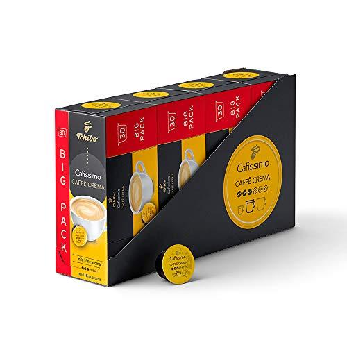 Tchibo Cafissimo Vorratsbox Caffè Crema mild Kaffeekapseln, 120 Stück (4x30 Kapseln), nachhaltig & fair gehandelt