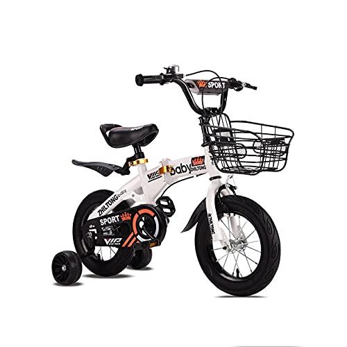 SXLONG Bicicletas Plegables para Niños, Bicicletas De Montaña, Medidas 12, 14, 16, 18, con Estabilizadores.