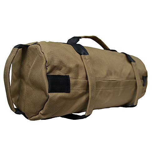 Professioneller Sandbag, 18 Kg Fitness Bag - Sandsack Für Functional Fitness Gewichtssack Boxtraining Griffe Übung Lauftraining(Khaki)