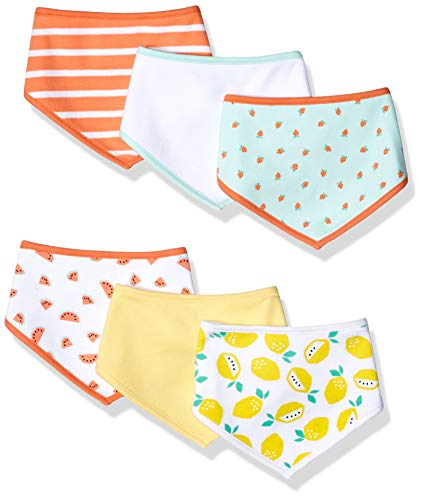 Amazon Essentials bavoirs de bébé,6- Pack,multicolore(Girl Fruit)Taille Unique
