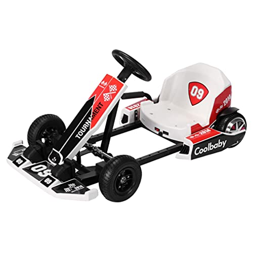 Tdoqo Electric Go Kart for Kids and Adults, Outdoor Race Pedal 12-16KM/H with Flashing Lights,Electric Ride On Go Karting Cars Carts Vehicles Racing Scooter, Toys Toddlers Boys Girls 8-18 Year Old