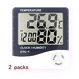ZUZU Indoor Outdoor Thermometer Digitaler Funk-Hygrometer-Wetterstation Drahtloser Temperatur- und Feuchtigkeitsmonitor mit Hintergrundbeleuchtung und