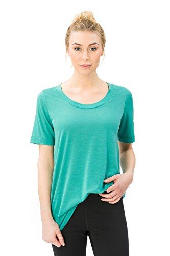 super.natural Langes, oversize Damen T-Shirt, Mit Merinowolle, W OVERSIZE TEE, Größe: S, Farbe: Hellgrün