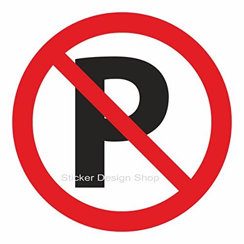 Parken Verboden Parkeerverbod Schild Sticker Vinyl Sticker Aanwijzingsbord 50cm