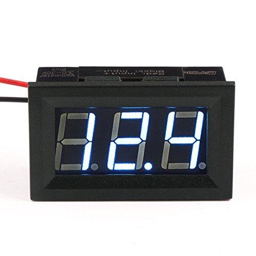Droking Digital Voltmeter, DC 3-30 V Auto Spannungsprüfer 0,56 Zoll 3 Ziffern LED-Anzeige Auto Spannungsprüfer 2-Draht-Monitor für Motorrad, Automobil