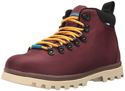 Native Shoes Men's Fitzsimmons Treklite Boot Rain, Spice Red/Howler Brown/Bone White, 10 M US
