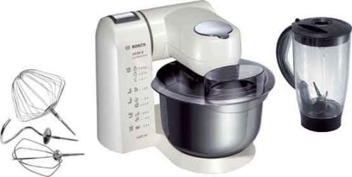 Bosch mum82W1Robot de cocina con carcasa de metal blanco nacarado