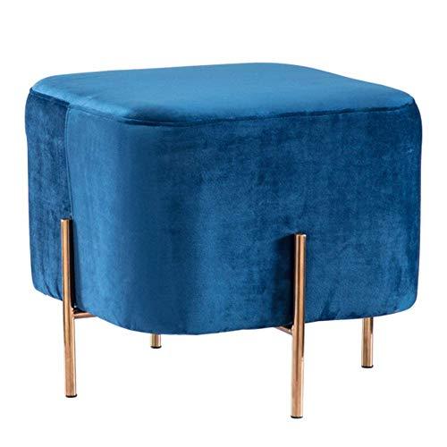 YLCJ kruk, opstapje, Europese stijl, bank, kruk, woonkamer, stofwisseling, schoenenbank, multifunctioneel, voor het huishouden (kleur: geel) Blauw