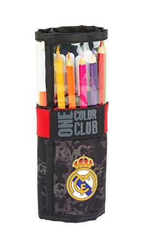 Real Madrid Estuches Unisex Adulto Plumier Enrollable 27 Piezas Black' 411924-786 Portaminas...