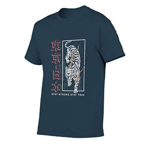 Stay True Tokyo Tiger - Camiseta de algodón para hombre, diseño vintage verde militar L