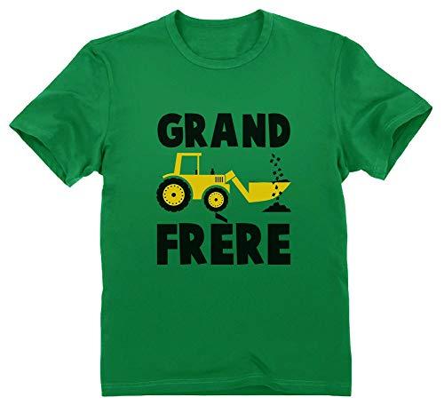 Green Turtle T-Shirts Grand frère 2021 Annonce de Grossesse Cadeau Naissance T-Shirt Garçon 3/4 Ans 104cm Vert