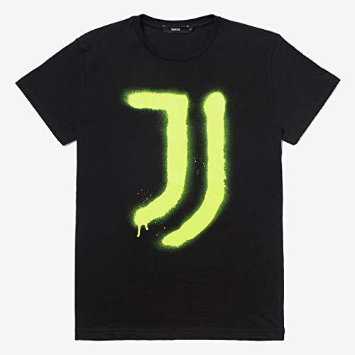 Juventus T-Shirt Spray Yellow - 100% Originale - 100% Prodotto Ufficiale - Uomo - Scegli la Taglia (Taglia M)