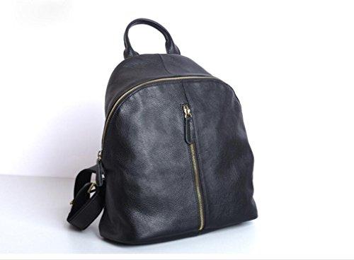 FEN Cuir première couche en cuir voyage dame sac à dos noir loisirs sac à bandoulière