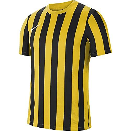 NIKE Camiseta para Hombre Striped Division IV Jersey S/S, Hombre, Camiseta, CW3813-719, Amarillo (Tour Yellow/Black/White), XX-Large