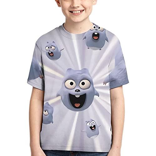 Grizzy and The Lemmings Camiseta Unisex para niños y jóvenes de Manga Corta a la Moda con Estampado 3D Camisetas