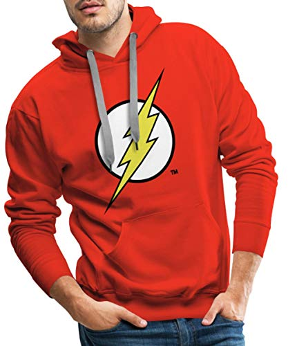 DC Comics Justice League Flash Logo Männer Premium Hoodie, XL, Rot