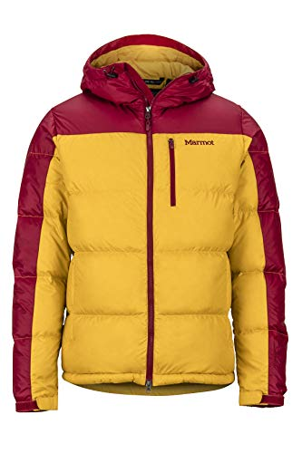 Marmot Herren Guides Down Hoody Ultra-leichte Daunenjacke, 700 Fill-Power, Warme Outdoorjacke Mit Kapuze, Wasserabweisend, Winddicht , Black , S
