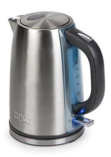 DOMO DO448WK Wasserkocher, Edelstahl, silber