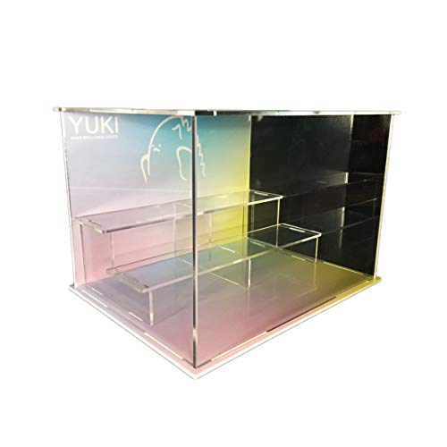 SNH Popmart Bubble Matt Yuki Theme Clay Role Model Character Transparent Stackable Clear Display Box Acrylic Sliding Door Assembly Display Box Dust Cover (Color : Burst)