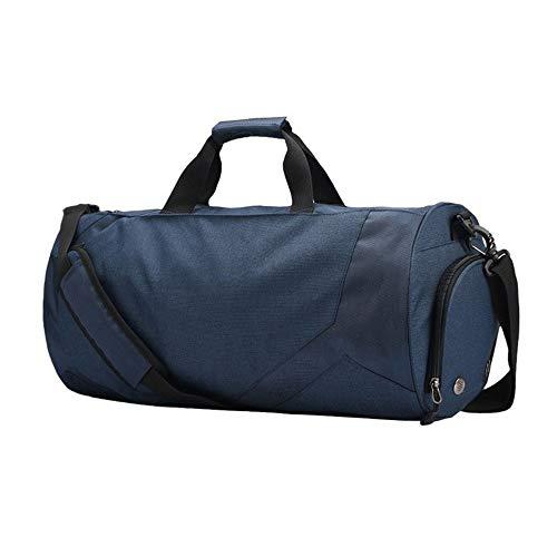 Boss Bag grote capaciteit Duffel Bag nat en droog scheiding Yoga Fitness Kit tas (kleur: blauw, maat: L)