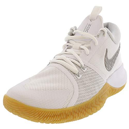 Nike Zoom Assersion White/Chrome Gum Light Brown Ankle-High Mesh Running - 13 M 11