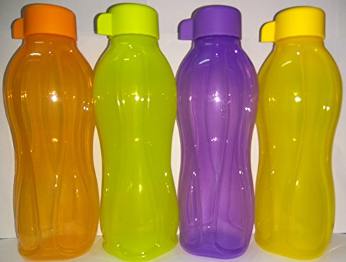 Tupperware Eco Easy 4-teiliges Flaschen-Set (4 x 500 ml)