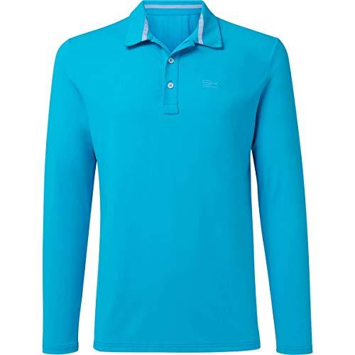 Sportkind Jungen & Herren Tennis, Golf, Sport Poloshirt Langarm, atmungsaktiv, UV-Schutz UPF 50+, türkis, Gr. 128