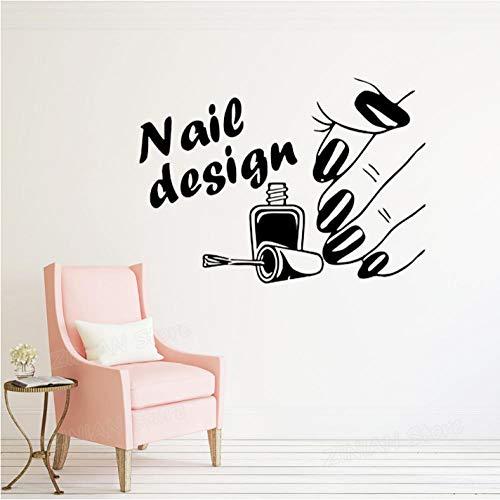 Xxscz Nail Art Design Poster Muurstickers Nagellak met Slanke Vingers Vinyl Muurstickers voor Schoonheid Nagels Salon Muurdecoratie H086