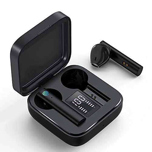 Bluetooth Kopfhörer, kabellose kopfhörer in Ear mit Mikrofon & Touch Control, 20 Std.Langer Akkulaufzeit, IP65 Schweißfeste wasserdicht, Automatische Kopplung Sport Ohrhörer für iPhone/Samsung/Huawei