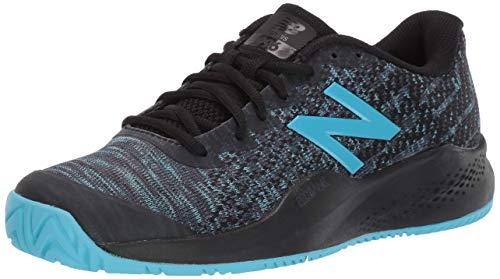 New Balance Women's 996 V3 Hard Court Tennis Shoe, Black/Bayside, 10.5 N US