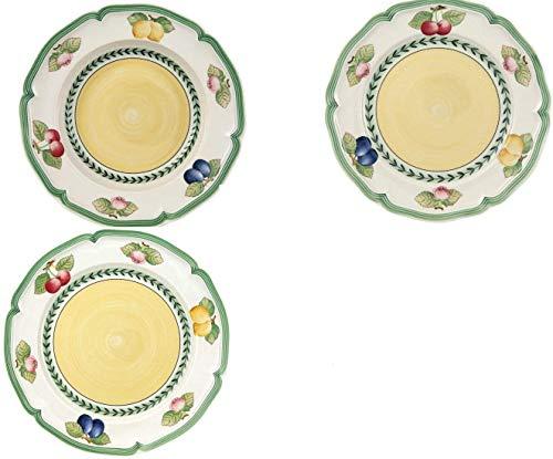 Villeroy&Boch . Servicio de platos de 12 piezas French Garden (4 pisos 27-4 hondos, 23-4 cm, fruta 21 cm)