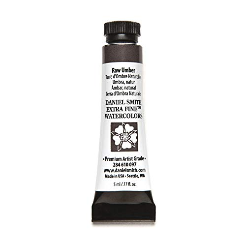 DANIEL SMITH, Raw Umber 284610097 Extra Fine Watercolors Tube, 5ml