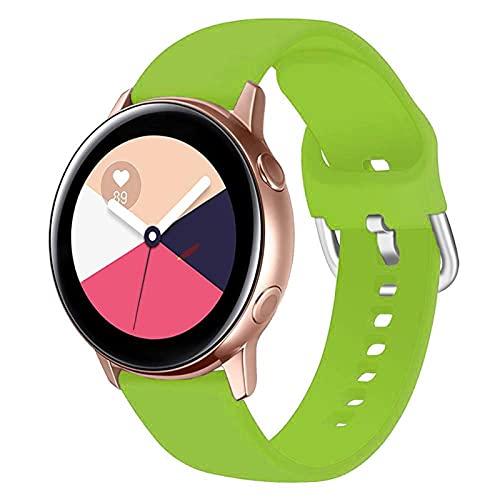 LLKHFA Correa de silicona para reloj Samsung Galaxy Watch 42 mm Active2 40/44 mm suave para reloj deportivo Samsung S2 Classic (color de la correa: color 16, ancho de la correa: para Amazfit Bip)