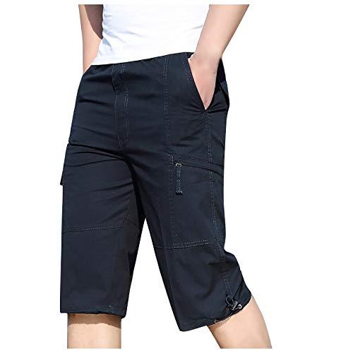 DeaAmyGline Cargohose Herren Kurze Hose Shorts mit Zip Tasche 3/4 Sommer Sport Shorts Männer Sweatshorts Jogginghose Laufshorts Sportshorts Wandershorts Arbeitsshorts