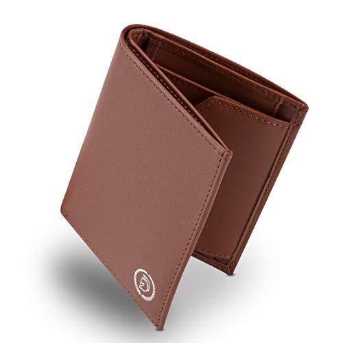 Herren Geldbörse mit Münzfach I Destination® Classic | Echtleder Portemonnaie mit RFID & NFC Schutz | Geldbeutel inkl. Geschenkbox | Kreditkartenetui mit Platz für 8 Karten |