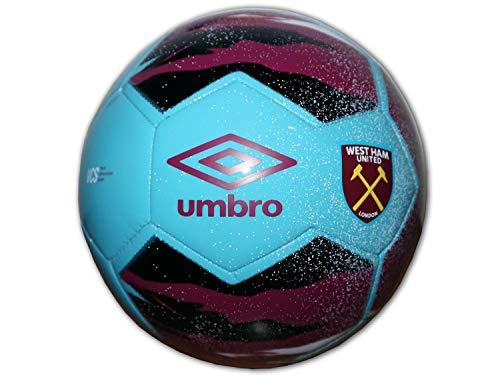UMBRO West Ham - Pallone da calcio Neo Trainer, colore rosso e blu, WUFC