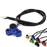 Botón universal de parada de motor de motocicleta para Yamaha YZ250, YZ450, WR250, WR450, WR, WRF YZ, YZF 125, 250, 300, 350, 450, Dirt Bike, color azul