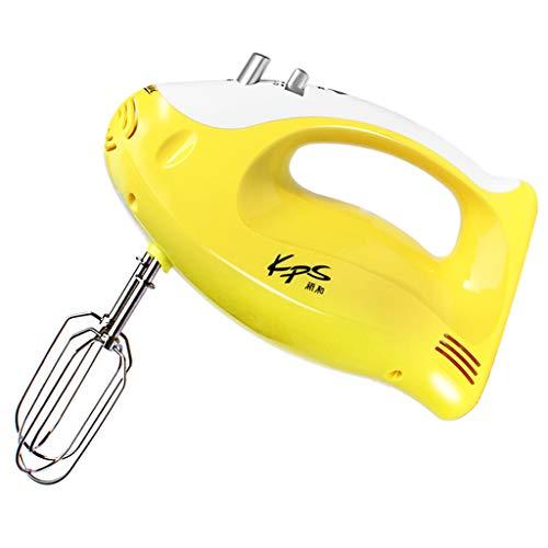 Virtpers Hand Mixer Electric, 200W Leistungsstarke 5-Gang Mixer Immerison Mixer und Auswurftaste (Farbe : Gelb, größe : 22 * 13.5cm)