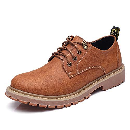 FHCGMX Work Boots Mannen Schoenen Grote Maat 37-47 Enkellaarzen Lace Up Schoenen Herfst Rubber Boot Bruin Zwart