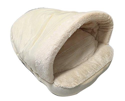 Icegrey fleece licht zacht hondenbed hondenmand kattenbed binnenkussen 54x40x30, 54*40*30CM, wit