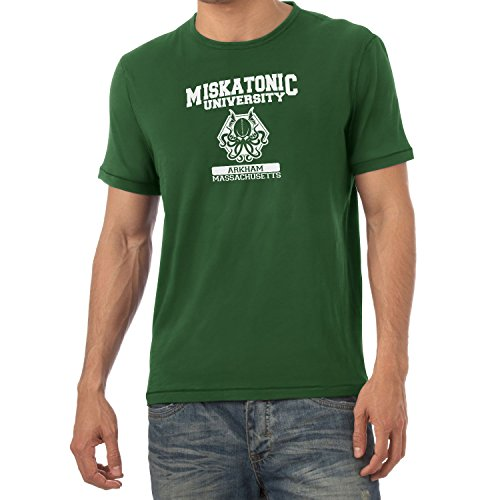 Texlab Herren Miskatonic University T-Shirt, Flaschengrün, L