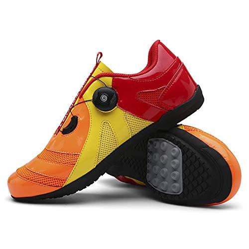 QAL Lock-Free Cycling Shoes MTB Shoes Road Bike Shoes Cycling Sneakers Unlocked Cycling Shoes B-39