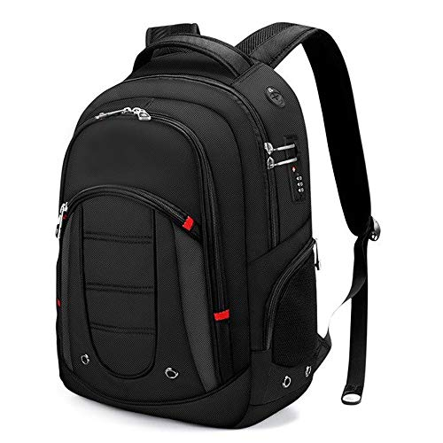 Mbags Backpack with USB Charging Port Laptop Bag and Combination Lock- Fits Most 15.6/17 Inch Laptops and Tablets Large Capacity Package for Leisure Business Travel (Size : 34x17x50 cm)
