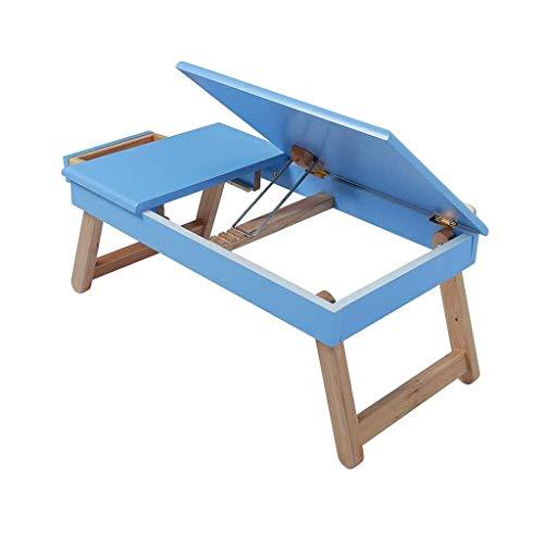 RH-HPC Mesa Plegable Escritorio de Mesa for Laptop de Cama Plegable Ajustable portátil con cajón de Trabajo ergonómico