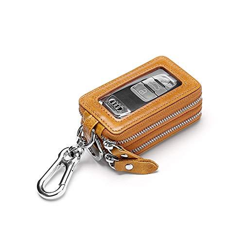 WANZPITS Double-Layer Multi-Function Car Key Bag, Mini Car Key Storage Bag, Built-In Anti-Drop Key Chain for Men And Women,A