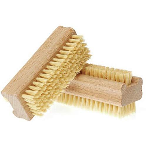 LjzlSxMF Doppelseitige Handbürste Anti-rutsch-Holz-nagelbürste Fingernail Scrubber Handreinigungsbürste Für Zehen Nägel
